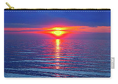 Vivid Sunset With Emerson Quote Carry-all Pouch by Ginny Gaura