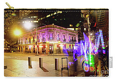 Carry-all Pouch featuring the photograph Vivid Sydney Circular Quay By Kaye Menner by Kaye Menner