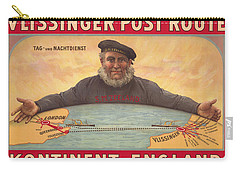 Vlissinger Post Route - Zeeland Maritime Company Poster - London To Flushing Ship Route Carry-all Pouch