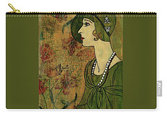 Vogue Twenties Carry-all Pouch by P J Lewis