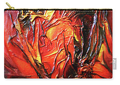 Carry-all Pouch featuring the mixed media Volcanic Fire by Angela Stout