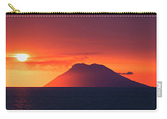 Volcano At Sea Carry-all Pouch
