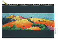 Carry-all Pouch featuring the painting Voluptuous Windy Hill by Gary Coleman