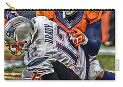 Von Miller Denver Broncos Art Carry-all Pouch