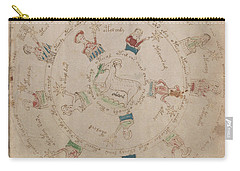 Voynich Manuscript Astro Aries Carry-all Pouch