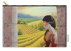 Mujer En Rojo Carry-all Pouch