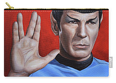 Carry-all Pouch featuring the painting Vulcan Farewell by Kim Lockman