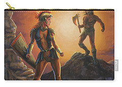 Carry-all Pouch featuring the painting Vulcana  by Kim Lockman