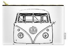 Vw Bus Photographs Carry-All Pouches
