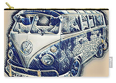 Vw Camper Van Waves Carry-all Pouch