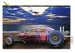 Rat Rod Surf Monster At The Shore Carry-all Pouch