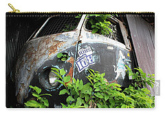 Carry-all Pouch featuring the photograph Vw Van Wall by Nola Lee Kelsey