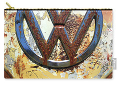 Vw Volkswagen Emblem With Rust Carry-all Pouch