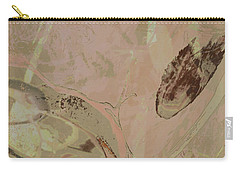 Wabi-sabi Ikebana Remix Warm Taupes Carry-all Pouch