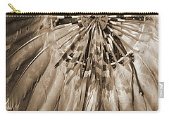 Wacipi Dancer In Sepia Carry-all Pouch by Heidi Hermes