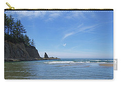 Carry-all Pouch featuring the photograph Wade In The Ocean by Adria Trail