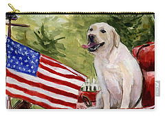 Carry-all Pouch featuring the painting Wag The Flag by Molly Poole