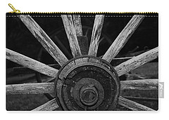 Carry-all Pouch featuring the photograph Wagon Wheel by Eric Liller