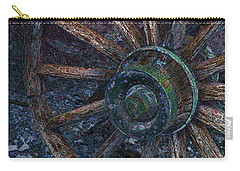 Carry-all Pouch featuring the digital art Wagon Wheel by Stuart Turnbull