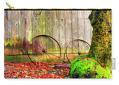 Wagon Wheels And Autumn Leaves Carry-all Pouch