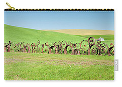 Wagon Wheels Stacked Palouse Washington Carry-all Pouch