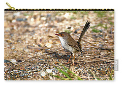 Carry-all Pouch featuring the photograph Wagtail 0001 by Kevin Chippindall