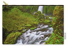 Carry-all Pouch featuring the photograph Wahclella Falls by Darren White