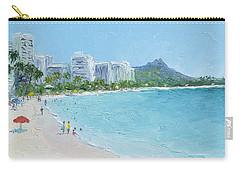 Waikiki Beach Honolulu Hawaii Carry-all Pouch by Jan Matson