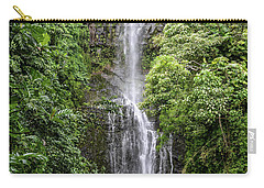 Wailua Falls On The Road To Hana, Maui, Hawaii Carry-all Pouch by Peter Dang