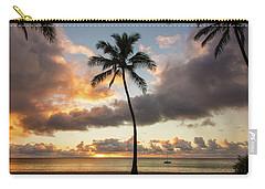 Waimea Beach Sunset - Oahu Hawaii Carry-all Pouch by Brian Harig