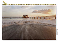 Carry-all Pouch featuring the photograph Waimea Pier by Dustin LeFevre