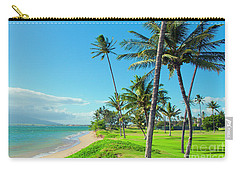 Carry-all Pouch featuring the photograph Waipuilani Beach Kihei Maui Hawaii by Sharon Mau