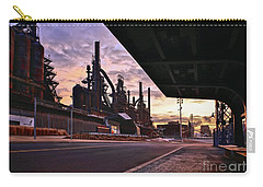 Carry-all Pouch featuring the photograph Waitin' On The Bus by DJ Florek