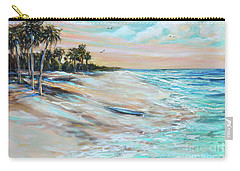 Waiting For Surf Carry-all Pouch by Linda Olsen