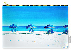 Waiting For The Beach Sitters Carry-all Pouch