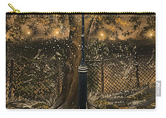 Carry-all Pouch featuring the painting Waiting For The Snow by Veronica Minozzi