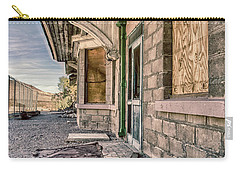 Carry-all Pouch featuring the photograph Waiting For The Train by Gaelyn Olmsted