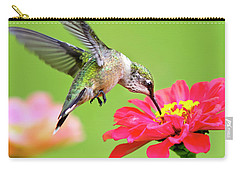 Waiting In The Wings Hummingbird Square Carry-all Pouch