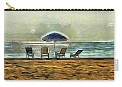 Carry-all Pouch featuring the mixed media Waiting On High Tide by Trish Tritz