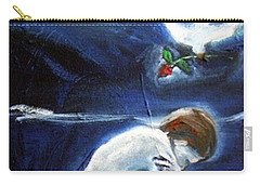 Carry-all Pouch featuring the painting Waiting by Winsome Gunning