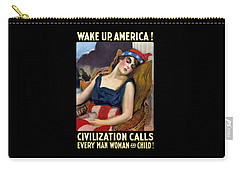 Wake Up America - Civilization Calls Carry-all Pouch