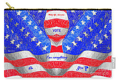 Carry-all Pouch featuring the digital art Wake Up America by Rafael Salazar