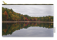Walden Pond Fall Foliage Concord Ma Reflection Trees Carry-all Pouch