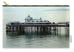 Carry-all Pouch featuring the photograph Wales Boardwalk by Joan  Minchak