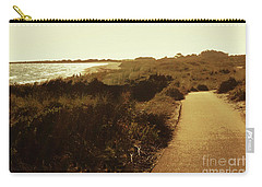 Carry-all Pouch featuring the photograph Walk Along The Beach by Cassandra Buckley