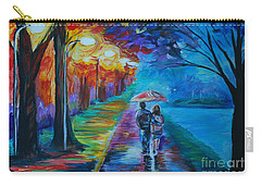Walk By The Lake  Carry-all Pouch by Leslie Allen