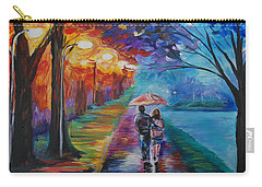 Walk By The Lake Series 1 Carry-all Pouch by Leslie Allen