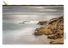 Walk Down To The Mist Carry-all Pouch by Peter Tellone