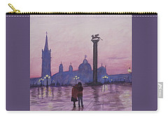 Walk In Italy In The Rain Carry-all Pouch