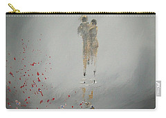 Carry-all Pouch featuring the painting Walk In The Storm by Raymond Doward